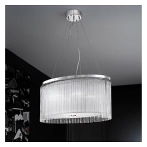 FL2192/4 Eros 4 Light Ceiling Pendant Polished Chrome