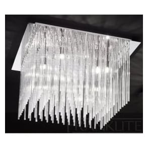 FL2093/10 Carillon 10 Light Ceiling Light Polished Chrome