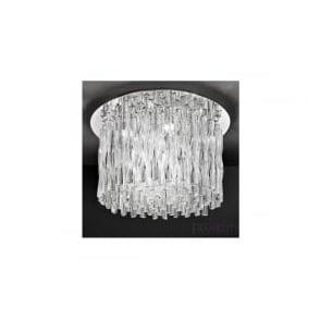 FL2175/12 Glacial 12 Light Ceiling Light Polished Chrome