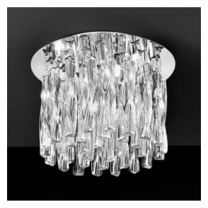 FL2175/4 Glacial 4 Light Ceiling Light Polished Chrome