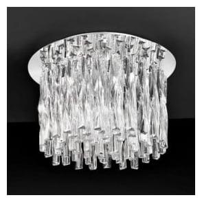 FL2175/8 Glacial 8 Light Ceiling Light Polished Chrome