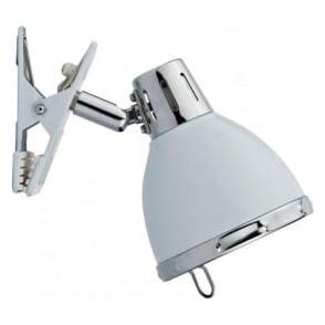 OSA4133 Osaka 1 Light Clip Lamp White