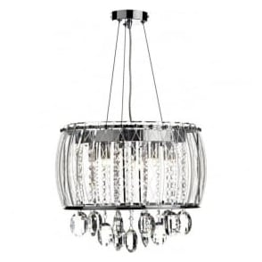 MEZ052 Mezzo 5 Light Ceiling Pendant Polished Chrome