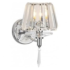 SEL0750 Selina 1 light modern wall light polished chrome finish