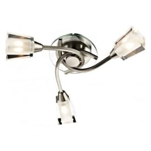 AUS0346 Austin 3 Light Semi-Flush Ceiling Light Satin Chrome