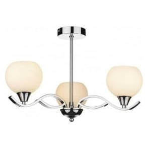 ARU0350 Aruba 3 Light Ceiling Light Polished Chrome