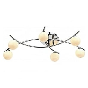 TET6450 Tetra 6 Light Semi-Flush Ceiling Light Polished Chrome