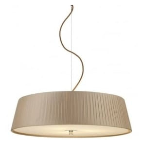 WHE0329 Wheel 3 Light Ceiling Pendant Taupe