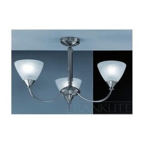 PE9673/786 Meridian 3 Light Ceiling Light Brushed Nickel