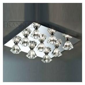 FL2245/9 Starz 5 Light Crystal Ceiling Light Polished Chrome