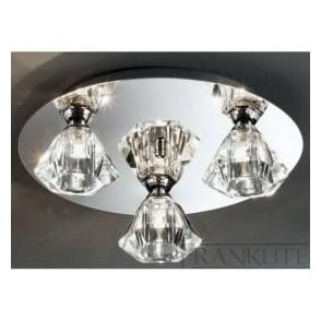 FL2243/3 Twista 3 Light Crystal Ceiling Light Polished Chrome