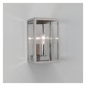 0563 Homefield 1 Light Outdoor Wall Light Polished Nickel IP44