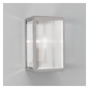 7083 Homefield Frosted 1 Light Outdoor Wall Light Polished Nickel IP44