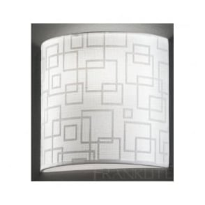 WB985/1139 WB985EL/1139 1 Light Wall Light Off-White Patterned Fabric