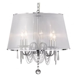 1485-5CC Venetian 5 Light Ceiling Pendant Polished Chrome