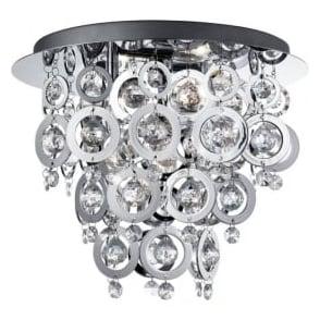 0573-3CC Nova 3 Light Ceiling Light Polished Chrome