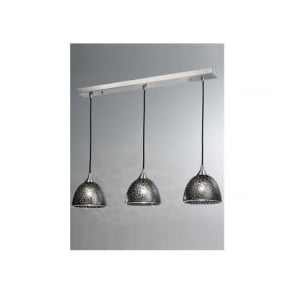 FL2290/3/952 Vetross 3 Light Ceiling Pendant Black Crackle