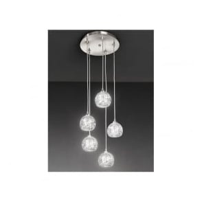 FL2301/5 Tierney 5 Light Ceiling Pendant Satin Nickel