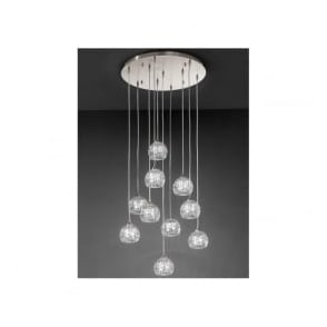 FL2301/10 Tierney 10 Light Ceiling Pendant Satin Nickel