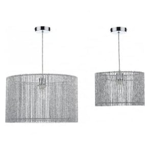 NES1750 Nest 2Pack Non Electric Pendant Silver