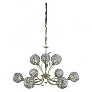 5579-9AB Bellis II 9 Light Ceiling Pendant Antique Brass