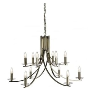 41612-12AB Ascona 12 Light Ceiling Light Antique Brass