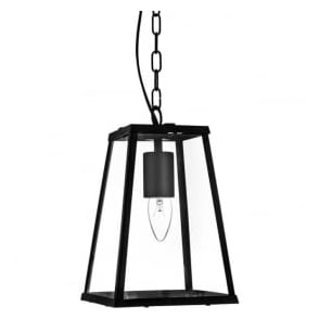 4614BK 1 Light Lantern Black