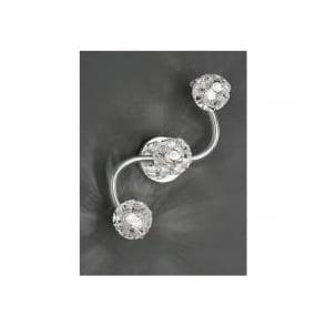 FL2305/3 Horologica 3 Light Crystal Ceiling Light Polished Chrome