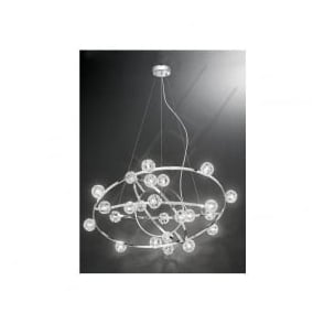 FL2305/24 Horologica 24 Light Crystal Ceiling Pendant Polished Chrome