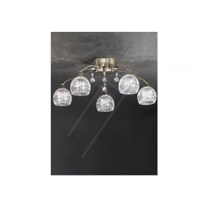 FL2296/5 Jura 5 Light Ceiling Light Bronze