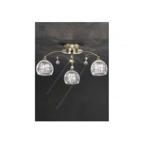 FL2296/3 Jura 3 Light Ceiling Light Bronze