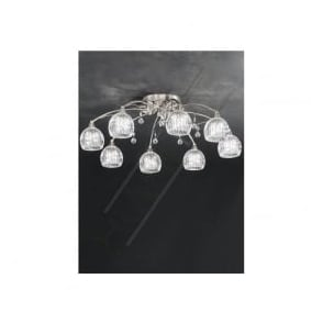 FL2295/8 Jura 8 Light Ceiling Light Satin Nickel