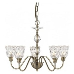 6255-5AB Monarch 5 Light Ceiling Light Antique Brass
