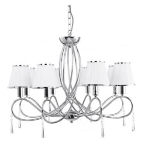 1038-8CC Simplicity 8 Light Ceiling Light Polished Chrome