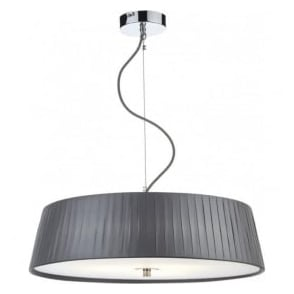 WHE0339 Wheel 3 Light Ceiling Pendant Grey