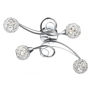 CIR0450 Circa 4 Light Semi-Flush Ceiling Light Polished Chrome