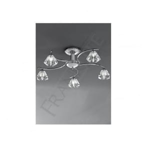 FL2162/5 Twista 5 Light Crystal Ceiling Light Polished Chrome