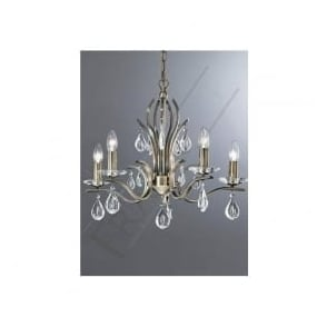 FL2299/5 Willow 5 Light Crystal Ceiling Light Bronze