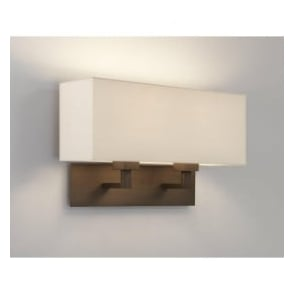 7064 Park Lane Grande Twin 2 Light Wall Light Bronze With Shade
