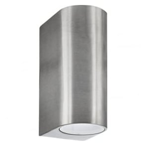 8008-2SS-LED Outdoor Lighting 2 Light Outdoor Wall Light Stainless Steel IP44