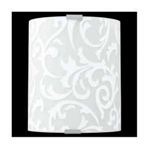 91245 Grafik 1 Light Wall Light White Printed Glass