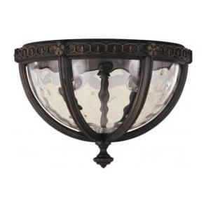 Lighting Feiss FE/REGENTCT/F Regent Court 2 Light Outdoor Ceiling Light Walnut