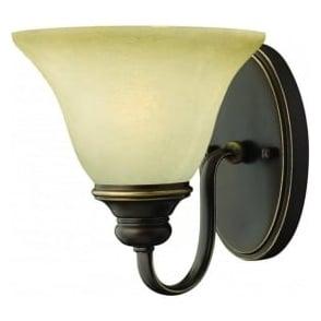 Lighting Hinkley HK/CELLO1 Cello 1 Light Wall Light Antique Bronze