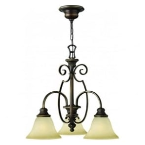 Lighting Hinkley HK/CELLO3 Cello 3 Light Ceiling Light Antique Bronze