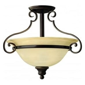 Lighting Hinkley HK/CELLO/SF Cello 2 Light Ceiling Light Antique Bronze