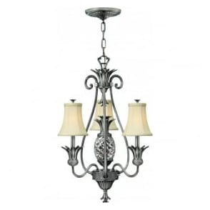 Lighting Hinkley HK/PLANT3-PL Plantation 4 Light Ceiling Light Polished Antique Nickel