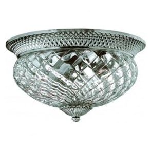 Lighting Hinkley HK/PLANT/F/L-PL Plantation 3 Light Ceiling Light Polished Antique Nickel