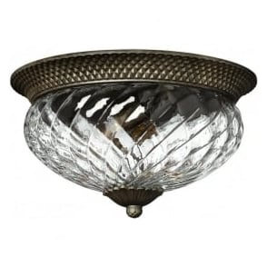 Lighting Hinkley HK/PLANT/F/L-PZ Plantation 3 Light Ceiling Light Pearl Bronze