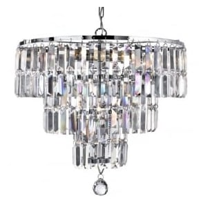 1375-5CC Empire 5 Light Crystal Ceiling Light Polished Chrome