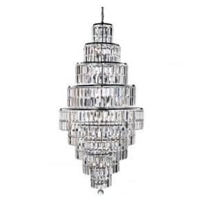 1500CC Empire 13 Light Crystal Ceiling Light Polished Chrome